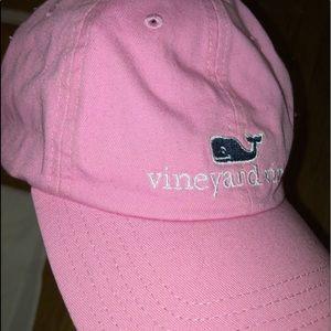 Pink Vineyard Vines Baseball Cap